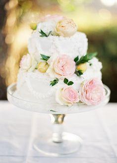 Simple elegant cake, photo by Marina Koslow Photography