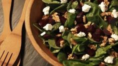 Get Roasted Beet Salad with Walnuts and Goat Cheese Recipe from Food Network