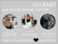 Digital Pregnancy Announcement, Modern Announcement, Ultrasound, Facebook Pregnancy Announcement, Personalized Pregnancy Announcement on Etsy, $12.00