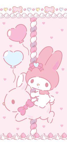 Mickey Mouse Wallpaper, Sanrio Wallpaper, Kawaii Wallpaper, My Melody Wallpaper, Hello Kitty My Melody, Baby Pink Aesthetic, Cute Kawaii Drawings, Sanrio Characters, Cute Wallpapers