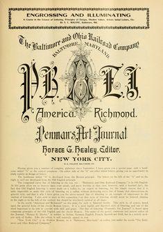 Penman's Art Journal Letter I, Initial Letters, Baltimore City, Penmanship, Alphabet, Initials, Archive, Public, Typography