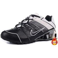 http://www.asneakers4u.com Mens Nike Shox NZ 2 Black Grey White