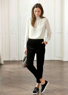 97 Best and Stylish Business Casual Work Outfit for Women. Wear to work womens fashion. parisianfashion : 97 Best and Stylish Business Casual Work Outfit for Women. Wear to work womens fashion. Minimal Outfit, Minimal Fashion, Work Fashion, Parisian Fashion, Fashion Tips, Fashion Ideas, Minimalist Fashion Women, Lifestyle Fashion, Fashion Clothes