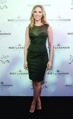 Scarlett Johansson in sheer, peplum-infused Pucci.