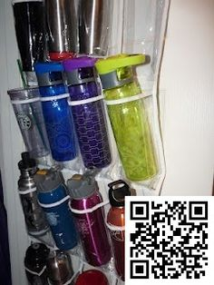 10. #Water Bottle & #Travel Mug #Organization - 10 Unique Ways to #Organize Your Home ... → #Lifestyle #Organizer