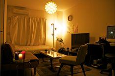 8畳のワンルーム : 真似したくなる!一人暮らしインテリア 1K・ワンルームレイアウト【男子部屋】 - NAVER まとめ
