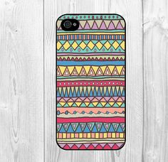 Cool Aztec Tribal Stripe Colorful Pattern Hard Snap On Case Protective Skin Cover For Apple Iphone 4 on Luulla