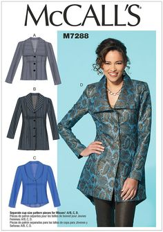 Misses Jackets McCalls Sewing Pattern 7288.