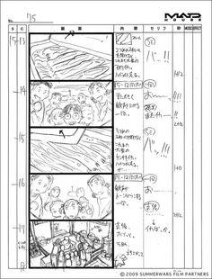 WEBアニメスタイル | 【artwork】『サマーウォーズ』第11回 絵コンテ1《ユーモア編》