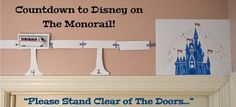 """My little Mousketeers LOVE the Monorail. As the Magical Express Bus takes us from the airport to our resort, my children yell """"Monorail!"""" as soon as they see one from the window of our… Disney World Tips And Tricks, Disney Tips, Disney Love, Disney Stuff, Disney Magic, Vacation Countdown, Disney Countdown, Countdown Ideas, Countdown Calendar"""