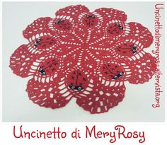 Center crochet with ladybugs