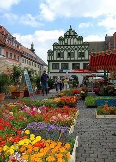 Weimar's Market Square, Germany