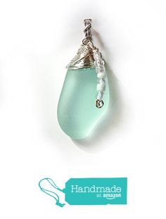 Cultured Sea Glass Tear Drop Pendant with Dangle - Pale Green, Sea Foam & Silver, Handmade Wire Wrapped Sea Glass Pendant Necklace with Beads - Special OOAK Gift for Women from Rhonda Chase Design https://www.amazon.com/dp/B01NBZENG7/ref=hnd_sw_r_pi_dp_JcP2ybMPBG25D #handmadeatamazon