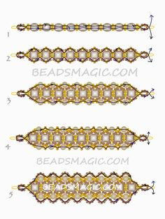 Dark Honey Bracelet---free-beading-pattern-necklace-tutorial-1-- from Beadsmagic