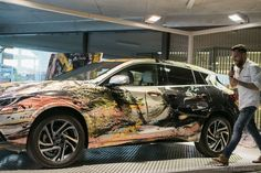 Infiniti Abstract Car Q30 by Łukasz Stokowski is the result of collaboration between Infiniti and the Polish abstract artist Łukasz Stokowski. The abstract design of the car depicts one of the artist's paintings and this creates an unusual art in a new form. The effect of this project was presented during the two-week exhibition of paintings by Łukasz Stokowski in Warsaw.