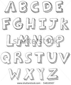 hand drawn vector abc letters by yayayoyo via shutterstock