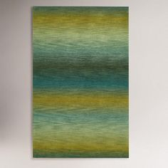 One of my favorite discoveries at WorldMarket.com: Ombre Stripes Ocean Wool Rug