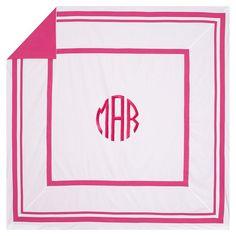 Suite Organic Duvet Cover + Sham, Pink Magenta   PBteen