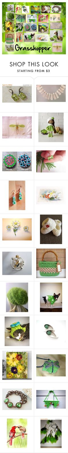 """Grasshopper: Vintage and Handmade Valentines"" by paulinemcewen ❤ liked on Polyvore featuring vintage"