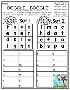 As we get ready to head on into November, I wanted to create some packets that make learning core skills FUN, hands-on and super effective. These NO PREP 2nd Grade Activities, Spelling Activities, Reading Activities, Anchor Activities, Word Study, Word Work, Boggle Board, Boggle Game, Learning Resources