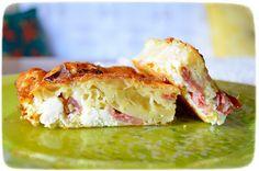 Τυρόπιτα με πράσινη πιπεριά και μπέϊκον Spanakopita, Lasagna, Bacon, Sandwiches, Bread, Chicken, Ethnic Recipes, Food, Breads