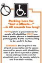 Accessible Parking ... This is much nicer than the notes I usually leave.
