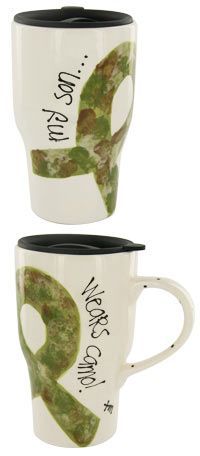 $24.99  purchase provides two free meals for homeless veterans!  My Son Wears Camo™ Travel Mug at The Veterans Site