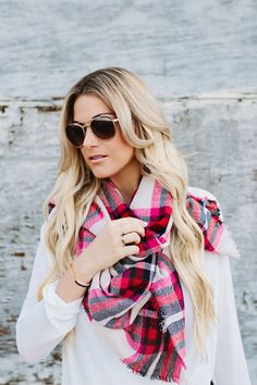 Pink Plaid for cold weather