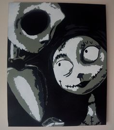 Original The Nightmare Before Christmas Canvas by by DANCANVASART, £30.00
