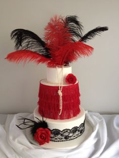 Angels Fancy Dress says: SO pretty!          Roaring Twenties Cake By michelle750 on CakeCentral.com