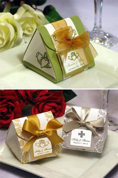 Claddagh Irish Wedding Origami Favor Boxes - we can do any color scheme - St. Patricks.