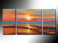 Aliexpress.com : Buy Home, Hotel,Office, School Art Deco Painting, Hand Painted Pictures of High Quality Large Size Abstract Sunset Seascape Painting from Reliable Sunset seascape suppliers on Shenzhen Xinsichuang Arts  Crafts Co., Ltd. $69.00