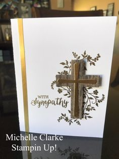 Hold On To Hope Stampin Up! paired with Rose Wonder makes an elegant Sympathy Card. Created by Michelle Clarke Stampin Up! Demonstrator.