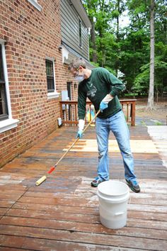 Young House Love | How To Strip & Clean A Deck For Stain