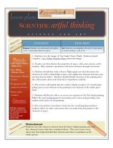 science and art | STEAM lesson | grades K-12 | K-12 lessons | STEAM lesson plan |