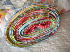 Rolled Quilt with Binding - Continuous Binding Tutorial on Craftsy