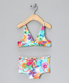 Take a look at this Rainbow Island Halter Bikini - Toddler & Girls by Cupid Girl on #zulily today!