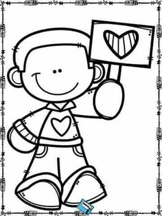 Resultado de imagen para the best coloring worksheet for valentine Colouring Pages, Coloring Sheets, Coloring Books, Valentine Coloring Pages, Valentines Art, Hand Embroidery Designs, Coloring Pages For Kids, Colorful Pictures, Art Projects