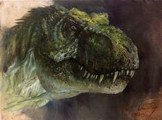Incredible Jurassic Park T-Rex Painting by Cheung Chung Tat