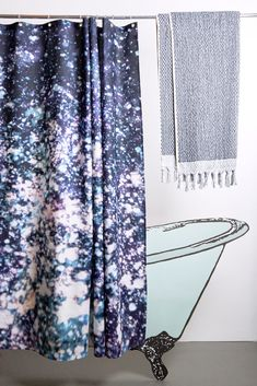 Asleep In the Stars Artist Cotton Shower Curtain ( Waterproof ) by Carmen Boog Shower Curtains, Artist At Work, Panama, Textiles, Stars, Prints, Cotton, Handmade, Collection
