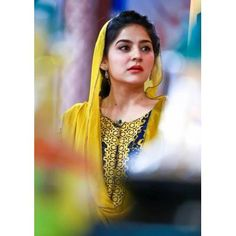 Sanam Baloch in yellow shalwar kameez