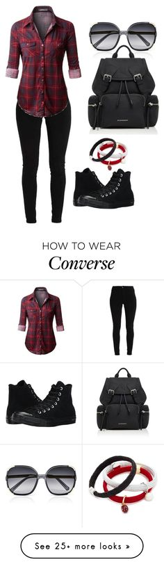 """Untitled #71"" by yasmine313 on Polyvore featuring Marc Jacobs, Converse and Burberry"