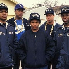 A was an American hip hop group from Compton, California, widely considered one of the seminal acts of the gangsta rap and west coast hip hop sub-genres, sometimes credited as one of the most important group in the history of rap music. Hip Hop And R&b, 90s Hip Hop, Hip Hop Rap, Playlists, Run Dmc, Estilo Cholo, Jamel Shabazz, Estilo Hip Hop, Arte Hip Hop