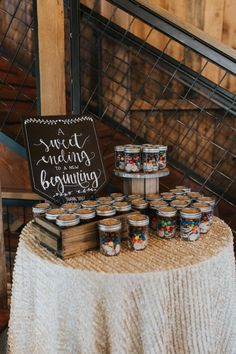 sweets for the road wedding favor