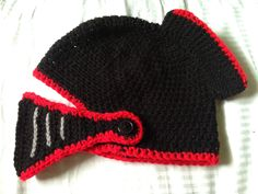 Red and black sir knight hat