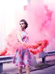 Stella Maxwell by Ben Morris for Numéro Tokyo March 2014 Smoke bomb photo Foto Fashion, Fashion Shoot, Editorial Fashion, Fashion Outfits, Smoke Bomb Photography, Portrait Photography, Fashion Photography, Photography Ideas, Inspiration Mode