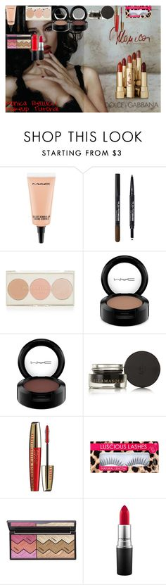Monica Bellucci Makeup Tutorial by oroartye-1 on Polyvore featuring beauty, By Terry, MAC Cosmetics, Illamasqua, Topshop, Maybelline, L'Oréal Paris and Dolce&Gabbana