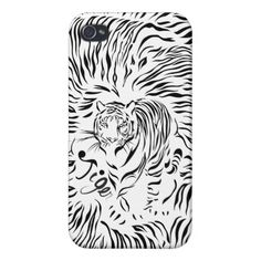 Black Tiger iPhone 4/4S Cover