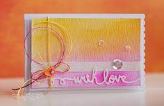 Peerless watercolored card and sentiment using Spellbinders.  Created by Michele Kovack