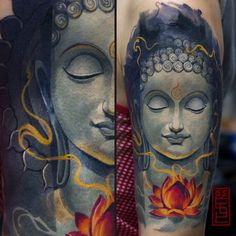 Finally done this piece. Thanx to my lovely lady for patience^^ XX XIV by the way.have a nice buddha Face Tattoos, Body Art Tattoos, Sleeve Tattoos, Buddha Tattoo Design, Buddha Tattoos, Japanese Tatoo, Vegan Tattoo, Shiva Tattoo, Buddha Face